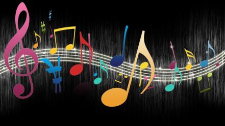 Multicolor musical notes Wallpaper