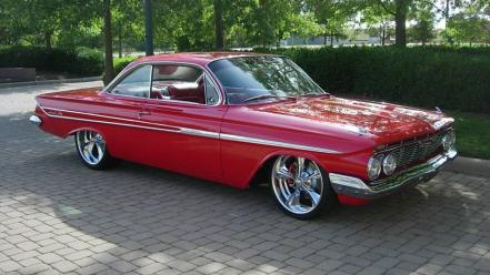 Red cars chevrolet impala wallpaper