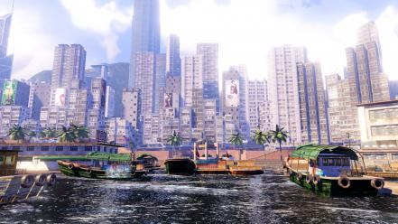 Video games hong kong panorama sleeping dogs Wallpaper