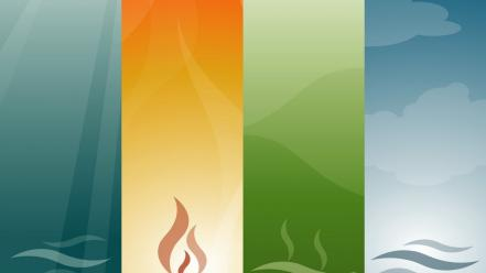 Abstract minimalistic four elements Wallpaper