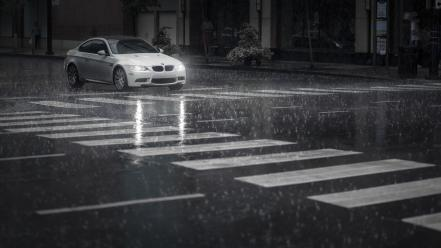 Bmw rain 3 series white cars cities wallpaper