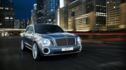 Cars bentley roads concept art wallpaper