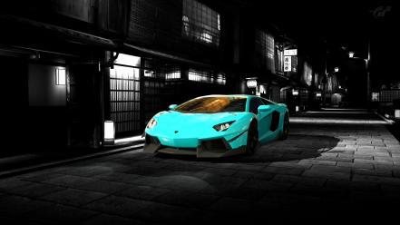 Lamborghini голубая отражение  № 2522855  скачать