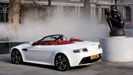 Cars vantage convertible white aston martin v12 cabrio wallpaper