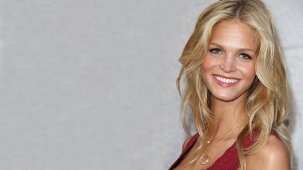 Celebrity smiling red erin heatherton white background wallpaper