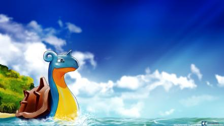 Clouds beach lapras serie isle game sea wallpaper