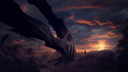 Landscapes crash environment Wallpaper
