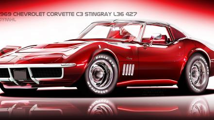 Stingray digital art vehicles corvette vexel c3 wallpaper