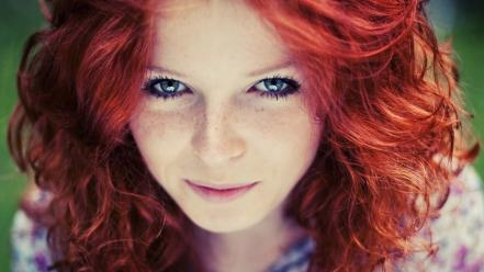 Women blue eyes redheads wallpaper