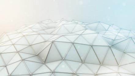 Abstract white patterns polygon Wallpaper