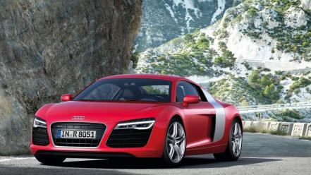 Cars audi roads r8 red v10 Wallpaper