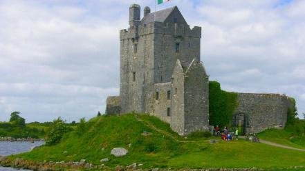 Castles ireland galway kinvara dunguaire wallpaper