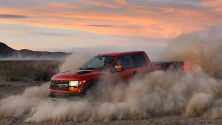 Desert ford pick-up trucks svt f-150 raptor pickup wallpaper