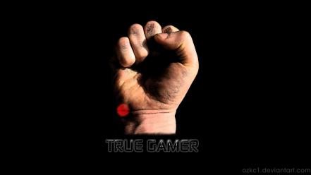 Hands fist gamers game wallpaper