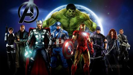 Movies world heroes marvel comics the avengers (movie) Wallpaper