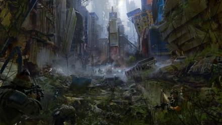 New york city times square artwork apocalyptic Wallpaper
