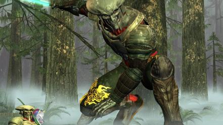 Trees forest artwork 3d yoshimitsu wallpaper