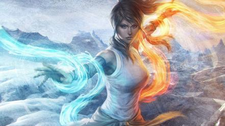Waterbender korra avatar: the legend of firebender wallpaper