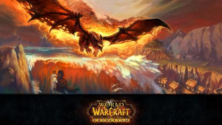 World of warcraft deathwing cataclysm fan art Wallpaper