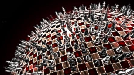 Abstract chess wallpaper