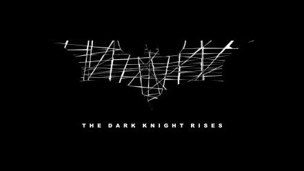 Batman the dark knight rises black background logo wallpaper