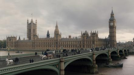 Big ben sherlock holmes rivers parliament houses Wallpaper