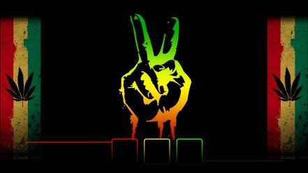 Green red yellow marijuana reggae wallpaper