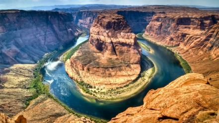 Landscapes horseshoe bend colorado wallpaper