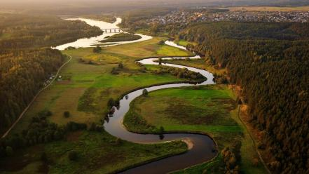Landscapes nature lithuania rivers baltic states unseen wallpaper