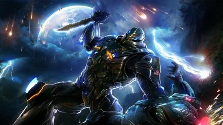 Video games futuristic suit armor knives section 8 wallpaper