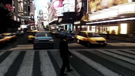 Video games metropolis crosswalks gta iv wallpaper
