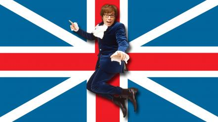 Austin powers british mike myers with glasses wallpaper