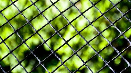 Close-up nature fences chain link fence blurred background Wallpaper