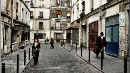 Paris streets france people james lapett wallpaper