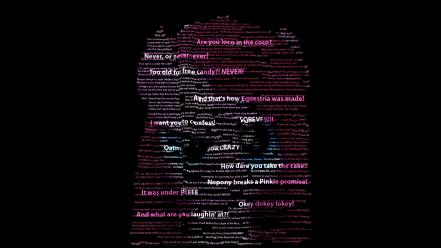 Quotes typography my little pony pinkie pie Wallpaper