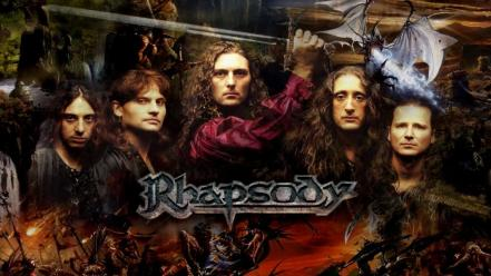 Rhapsody power metal symphonic of fire wallpaper