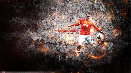 Soccer manchester united fc wayne rooney designed wallpaper