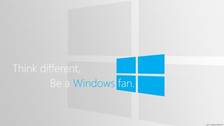 Windows 8 fan simple phone logo wallpaper
