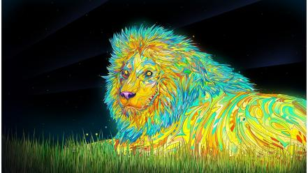 Artwork lions matei apostolescu Wallpaper