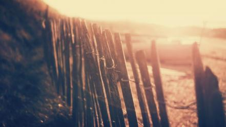 Beach fences Wallpaper