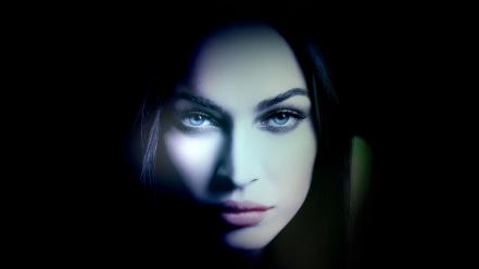 Eyes megan fox mouth faces photomanipulation wallpaper