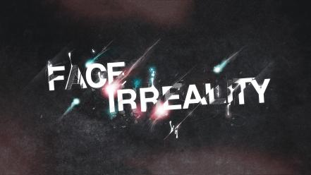 Grunge surrealism typography reality wallpaper