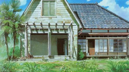 Houses my neighbour totoro wallpaper