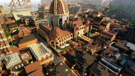 Minecraft game of thrones westeros lannisport wallpaper