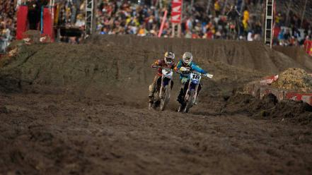 Motorbikes racing james stewart supercross ama js7 wallpaper