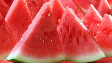 Red fruits watermelons wallpaper