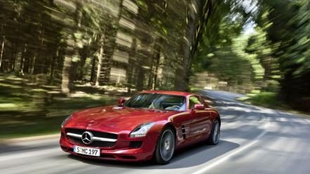 Sls amg speed mercedes benz muscle car wallpaper