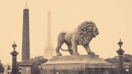 Statues lions wallpaper