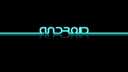 Android tron neon wallpaper