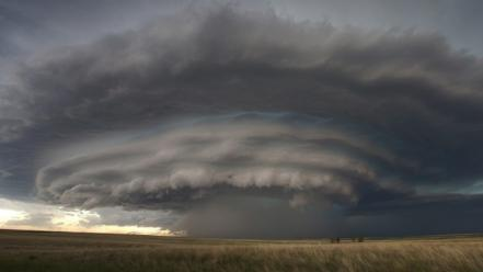 Clouds storm supercell Wallpaper